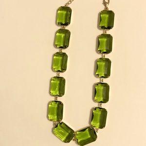Green statement necklace Art Deco/Collette